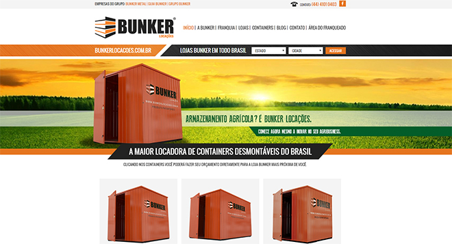 Index Website Bunker Locações Containers Franquia